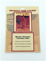 Bryce Canyon National Park Retro Ranger Passport Sticker