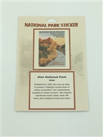 Zion National Park Retro Ranger Passport Sticker
