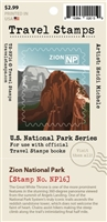Zion National Park Travel Stamp