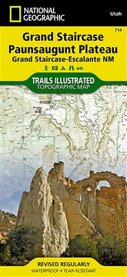 Grand Staircase Paunsaugunt Plateau National Geographic Map #714
