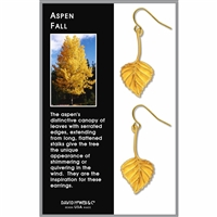 Aspen Fall - gold enamel earrings