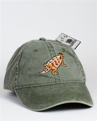 Embroidered Horned Toad Baseball Cap