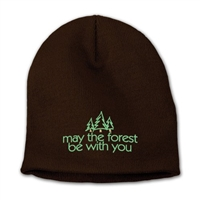 May The Forest Be With You Embroidered Beanie