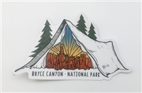 Bryce Canyon Wild Tribute Tent Sticker