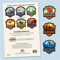National Parks Mini Emblem Sticker Set