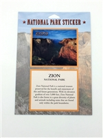 Zion National Park Passport Sticker