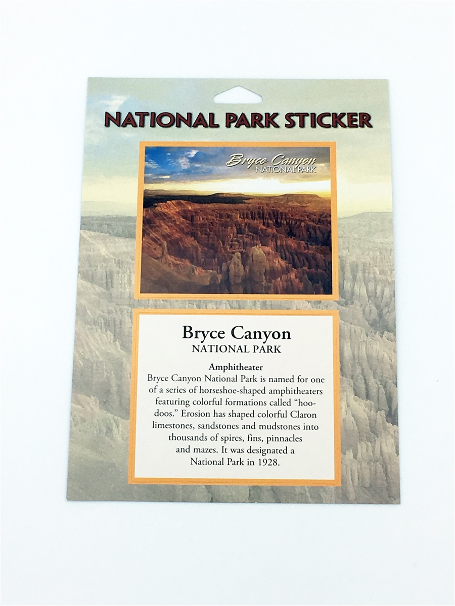 passport sticker for bryce canyon national park