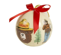 Smokey Bear Christmas Ornament