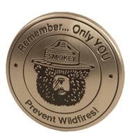 Smokey Bear Pewter Magnet