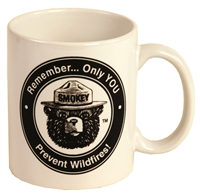 Smokey Bear Black & White Mug ON SALE