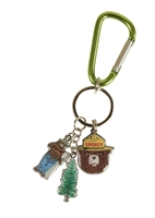 Smokey Bear Charm Key Chain