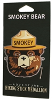 Smokey Bear Hiking Stick Medallion