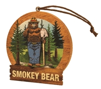 Smokey Bear Wooden Ornament