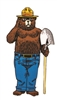 Smokey Bear Die Cut Sticker