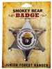Smokey Bear Sheriff Badge Pin