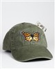 Embroidered Monarch Butterfly Baseball Cap