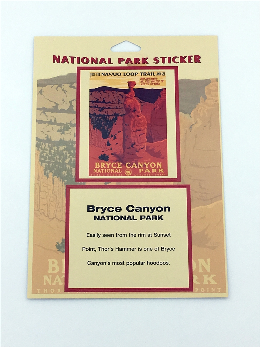 bryce canyon national park retro ranger passport sticker