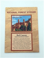 Red Canyon Dixie National Forest Passport Sticker