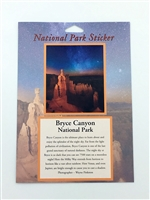 Bryce Canyon National Park Night Sky Passport Sticker