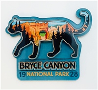 Mountain Lion Acrylic Magnet