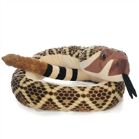 Stuffed Western Diamondback 54 Inch Plush Snake